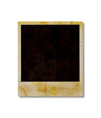 Blank instant photo isolated on white