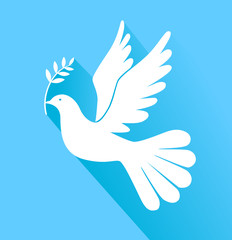 Peace dove with olive branch vector eps 10