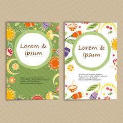 Set of Cards with Floral Pattern