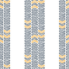 Vector seamless texture of hand-drawn arrows or chevrons