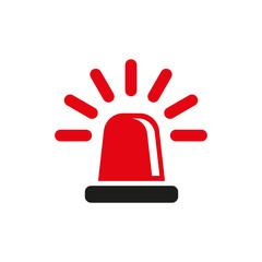 The flasher icon. Police and  ambulance, alarm, beacon symbol. Flat
