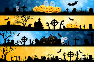 Halloween Posters set.