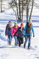 Winterspaziergang in verschneiter Natur