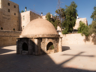 .Old buildings in a Coptic part of the complex of the Basilica o
