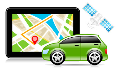 GPS, Global Positioning System, City Map, Navigation