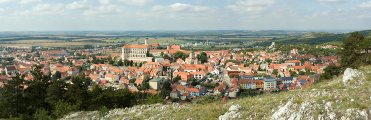 wide panorama of Mikulov