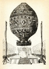 First manned ascent of a Montgolfière balloon near Paris, 21 November 1793