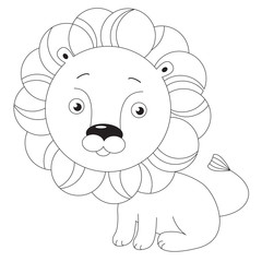 Toy lion. Page to be colored.