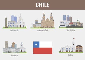 Cities in Chile.
