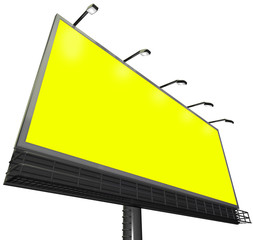 Billboard Outdoor Sign Advertising Communication Yellow Backgrou