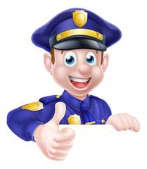 Policeman Giving Thumbs Up