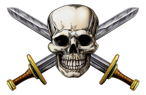 Cross Swords and Skull