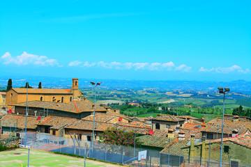 landscape of San Gimignano