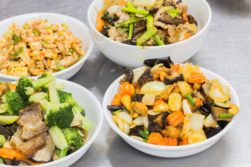 Thai Food stir fried chicken with cashew nuts, a famous thai food.