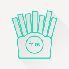 Vector french fries icon.