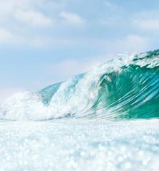 Fototapete - Wave and Bokah Foam