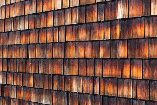 Abstract wooden texture of cedar shingles