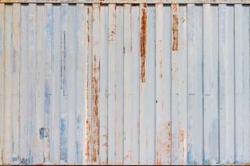 Close up old  shipping container stripe pattern