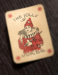 Vintage Joker playing card