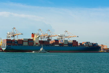Container terminal and full load shipping.