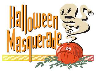 Happy halloween poster. Vector stock illustration