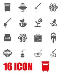Vector grey honey icon set