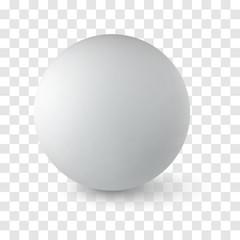 Sphere on white background
