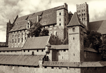 Poland. Fortress in Malbork is the largest brick building.