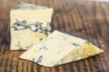 Gorgonzola cheese on wooden board
