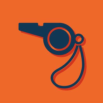 The whistle icon. Referee symbol
