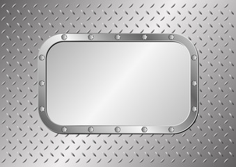 metal background with two plaques