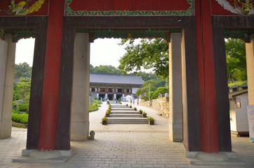 Bongeunsa Temple in the Gangnam District of Seoul, Korea..