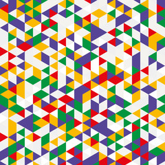 Vector background of different color triangles