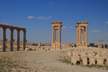The Tetrapylon in Palmyra, Syria
