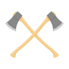 Weapon Crossed Axes icon illustration - A vector illustration of crossed axes.  Crossed blades for battle or war.