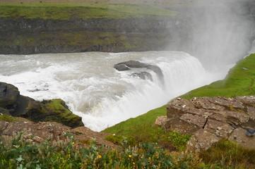 Gullfoss, waterfall in Iceland