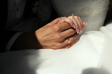 the hands of a bride