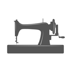 Isolated sewing machine.
