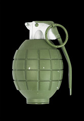 Hand Grenades isolated on white with clipping path