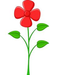 Flower cartoon on a white background
