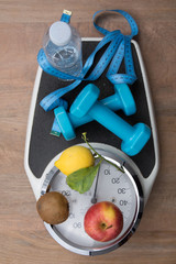 For a healthy life , scale and apple