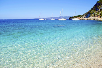 turquoise sea in Ithaca island Greece