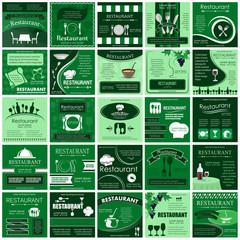 Restaurant Banners Set - Vector Illustration