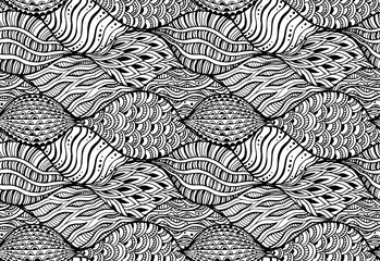 Seamless pattern with vector abstract elements.