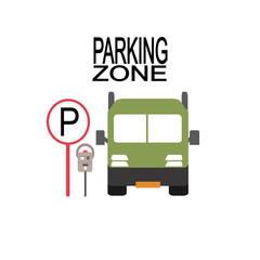 parking zone illustration over white color background