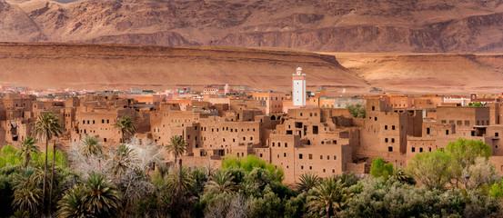 Canvas Prints Morocco Moroccan village