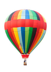 Poster Montgolfière / Dirigeable Hot air balloon isolated on white background