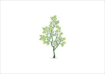 tree logo icon in white background