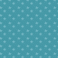 Floral Seamless Pattern abstract vector design linear outline