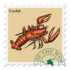 stamp with crayfish